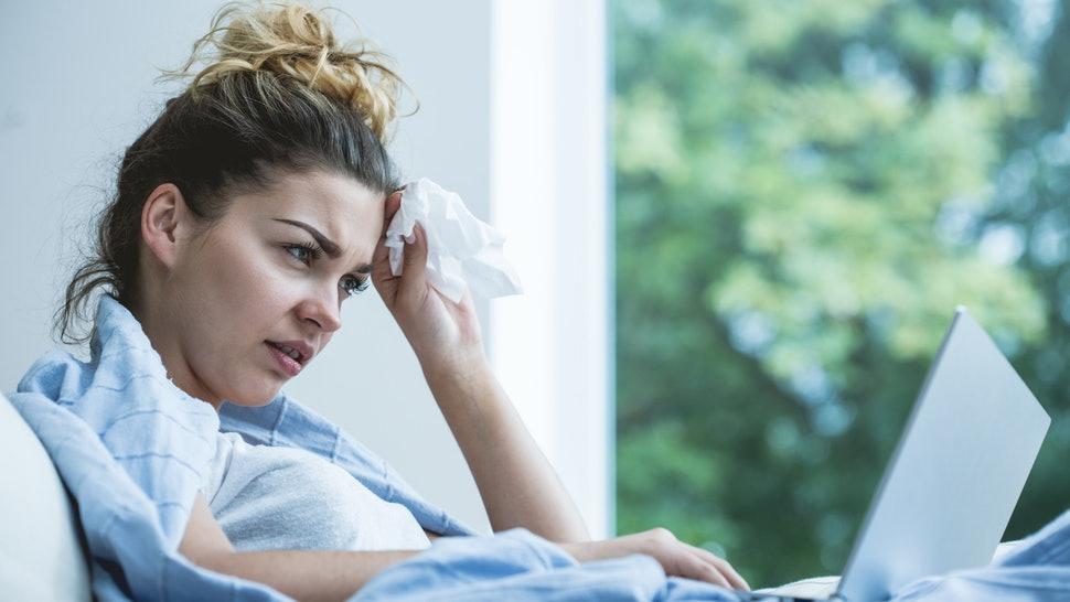 sick women